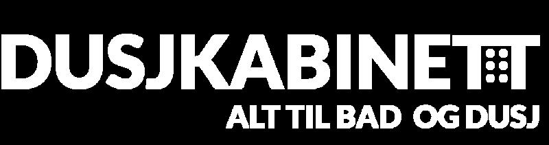 Dusjkabinett hvit logo